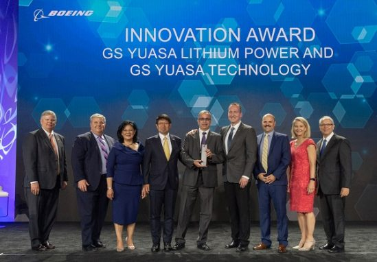 Boeing Supplier of the Year GS Yuasa 549x382