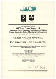 ISO 14001 Certificate of Quality